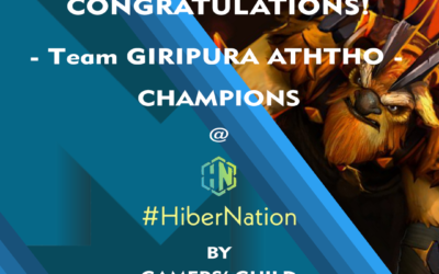 "MAXIMUM ""Team GIRIPURA ATHTHO"" wins the championship of ""HYBERNATION"" DOTA 2 tournament."
